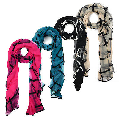 Layer Scarf - Premium 2-Layer Viscose Plaid Scarf - Different Colors Available