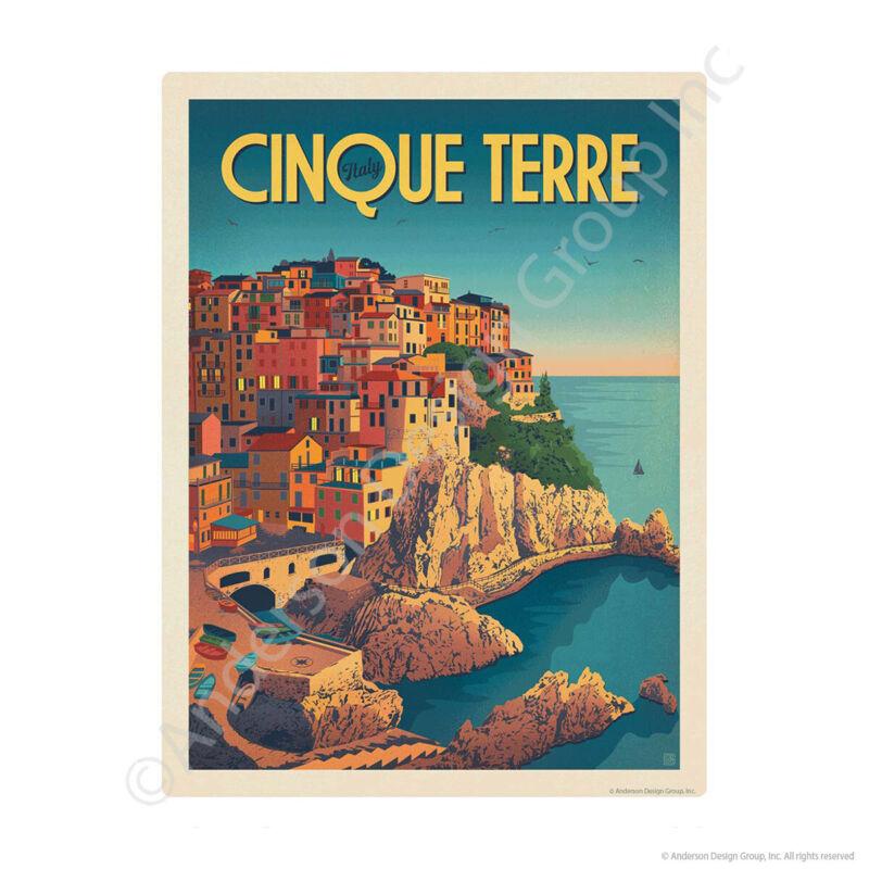Cinque Terre Italy Manarola Village Mini Vinyl Sticker