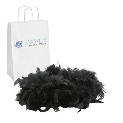 2yd Black Feather Boa Birthday Bachelorette Party Wedding Special Event - Party Boas