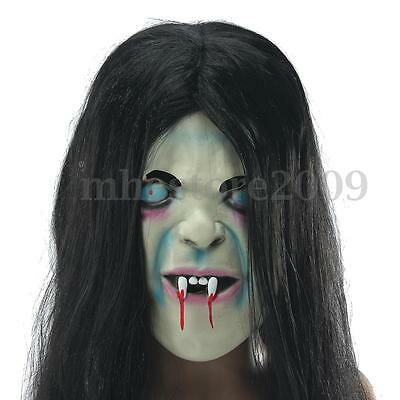 Halloween Horror Long SADAKO Ghost Hair Mask Adult Costume Scary Devil Full - Sadako Costume Halloween