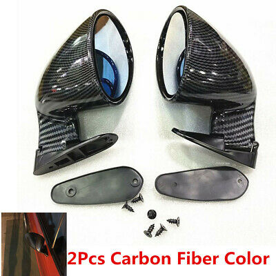 1 Pair F1 Style Carbon Fiber Color Blue Mirror Car Side Wing Rear View Mirrors