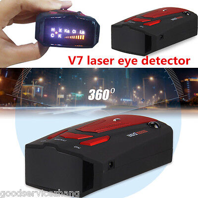 NEW Red V7 16 Band 360° Car Camera Laser Radar Detector Voice Alerts