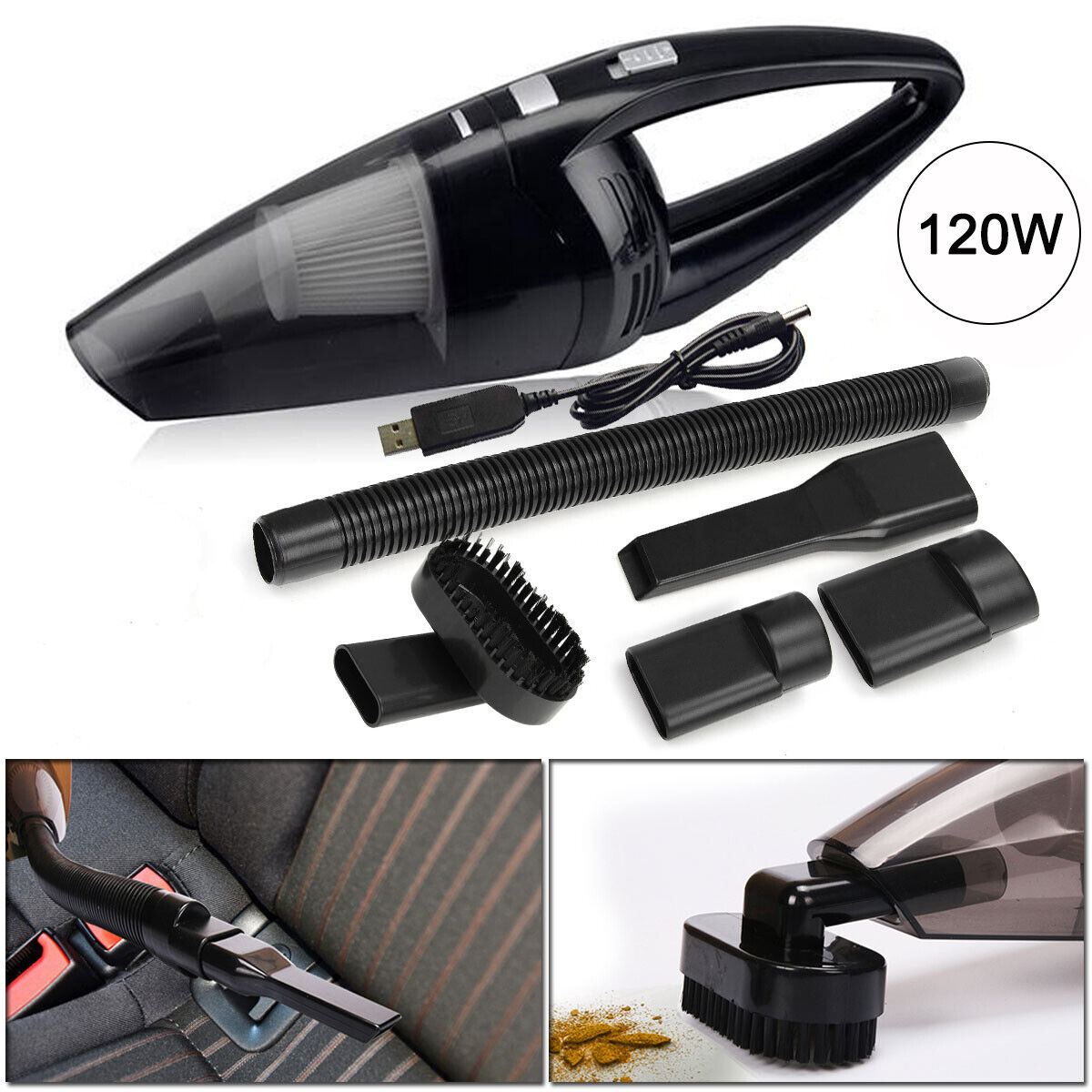 2020 Cordless Car Vacuum Cleaner Home Rechargeable Wet/Dry H