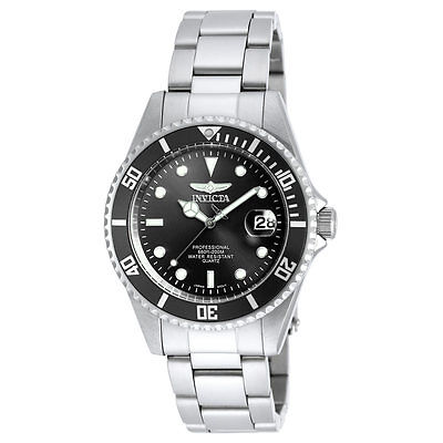 Mens Watches - Invicta 8932OB Men's Pro Diver Black Dial SS Bracelet Dive Watch