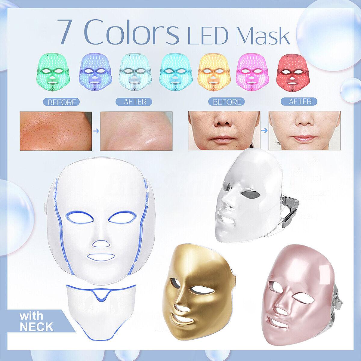 7 Colors Face Mask LED Light Photon Rejuvenation Skin Therap