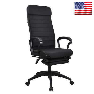 High Back Executive Office Chair Ergonomic Swivel Computer Desk Recliner Black
