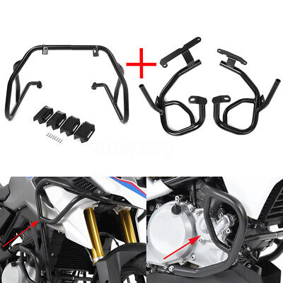 Engine Guard Kit - Upper + Lower Engine Tank Guard Crash Bar Kit Set For BMW G310GS G310R 2017 2018