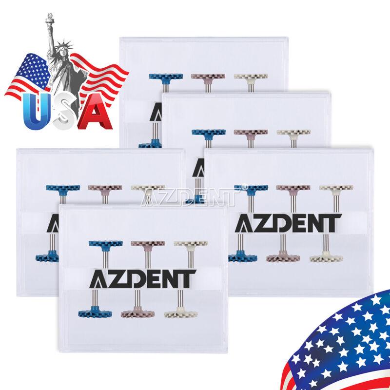 5*AZDENT Dental Diamond Rotary Grinding Polishing Instruments Coarse/Medium/Fine