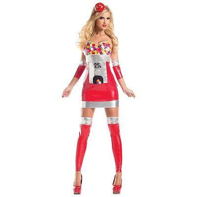Gumball Machine Costume Adult Sexy Bubblegum Candy Halloween Fancy Dress