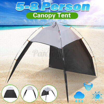 Large  Portable Beach Canopy Sun Shade Triangle Patchwork Tent Shelter Camping