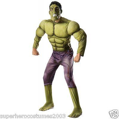 Erwachsene Avengers Kostüm (Avengers Age Of Ultron Hulk Muskel Erwachsene Kostüm Rubie's 810290 Plus Maske)