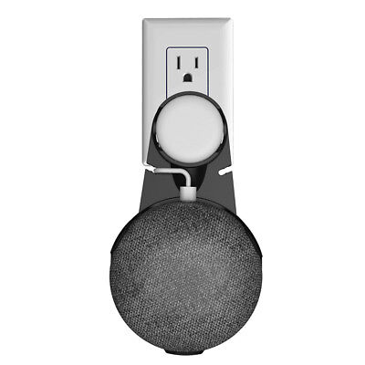 Black Wall Mount Holder Hanger Stand Grip for Google Home Mini Voice Assistants