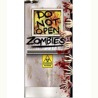 Do Not Open Zombies Halloween Door Decoration 5 Foot - Halloween Open Door