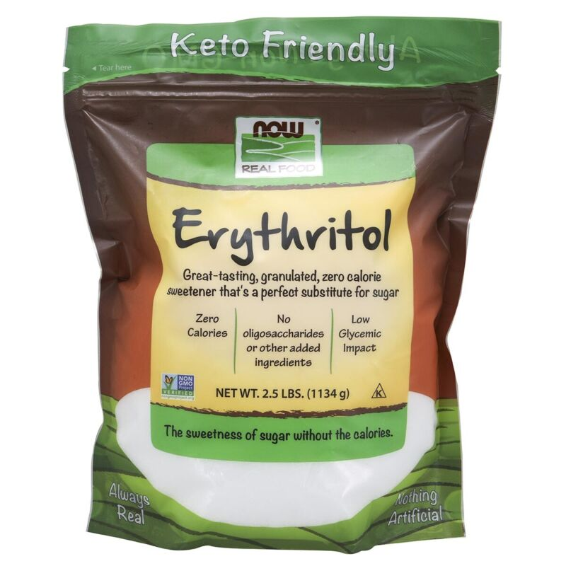 NOW Foods Erythritol 2.5 lbs FREE SHIPPING. MADE IN USA