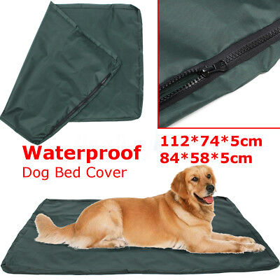 Large Red Dog Beds (2 Sizes Waterproof Dog Bed Large Washable Cover Pet Cat Mat Pad Cushion Red)