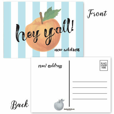 Hey Y'all New Address Postcards - 50 Moving Announcement Postcards - B17007 ()
