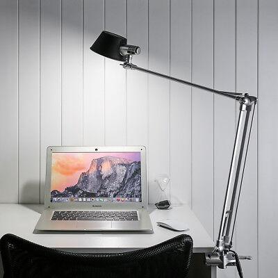 6W Klemmleuchte Set, Helligkeit dimmbar Schreibtischlampe Tischleuchte Leselicht