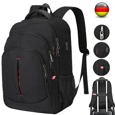 Laptop Rucksack Herren Antidieb Brieftasche USB backpack Schulrucksack 15,6 Zoll