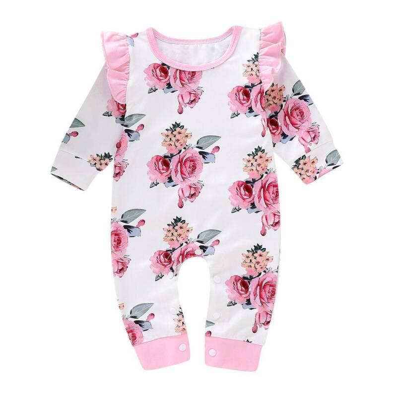 US Newborn Infant Kids Baby Girl Bodysuit Romper Jumpsuit Outfit Boy Clothes Set