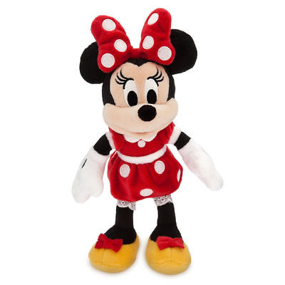 """Disney Parks Minnie Mouse Red Polka Dot Plush Toy 9 1/2"""" Soft Doll Girls Gift"""