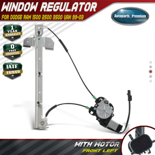 Power Window Regulator W/Motor For Dodge Ram 1500 2500