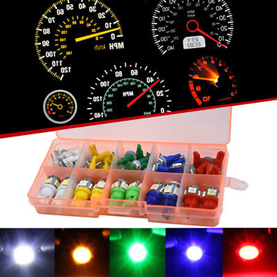 40Pcs Auto Car T5+T10 LED 5050 Instrument Panel Dashboard Light Lamp Indicator for sale  Shipping to Canada