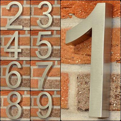3D Hausnummer Edelstahl V2A Hausnummernschild Haustürnummer alle Zahlen H19 cm