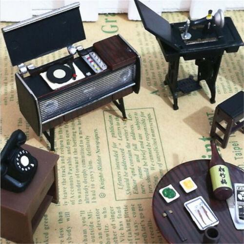 6PcsSet Mini Janpanese Doll House Miniature Vintage Furniture Accessories Toys