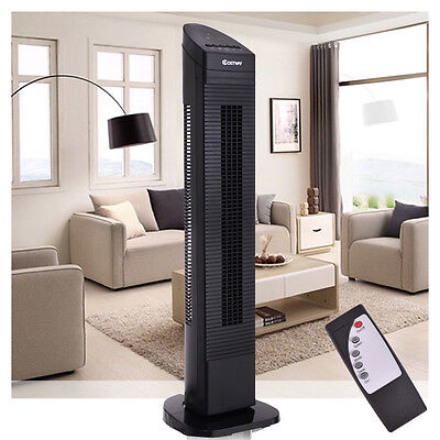 "Costway 35"" Tower Fan Oscillating Cooling 3 Speed w/ Remote Control LED"