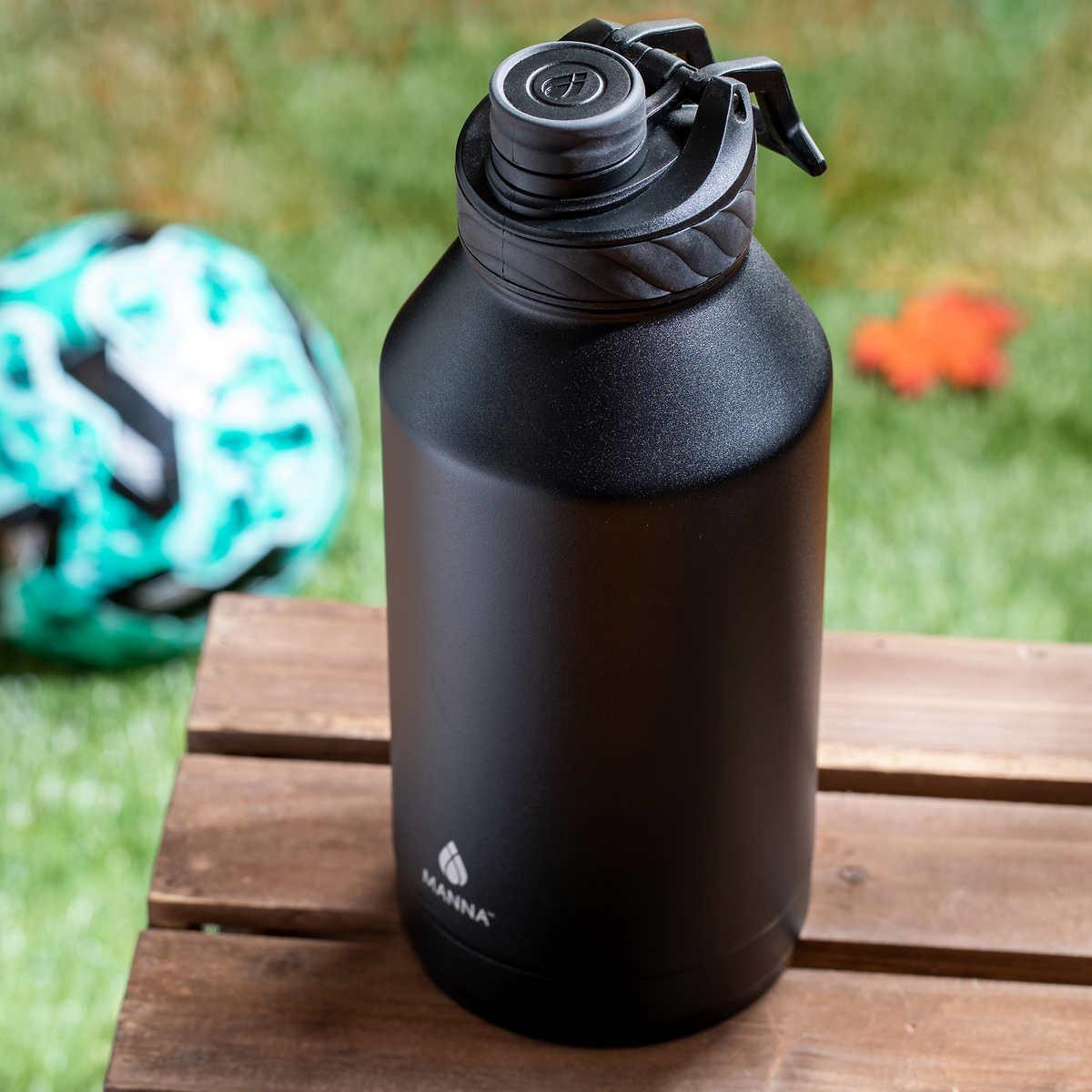 🔥 Manna Stainless Steel 64oz Water Bottle Black