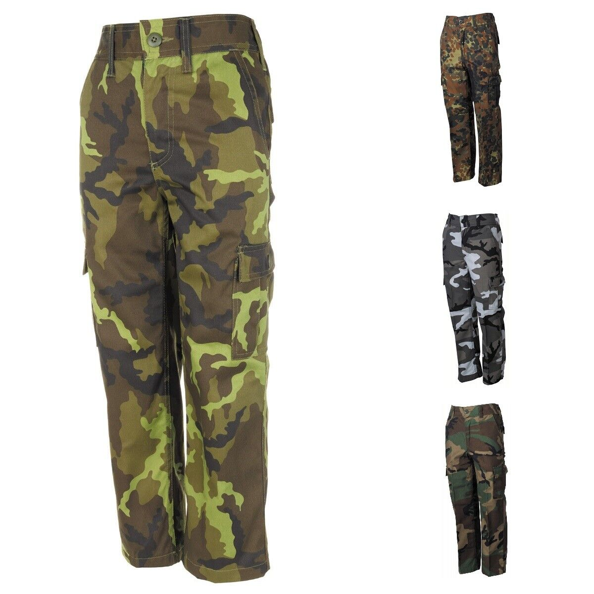 Hose Kinder Feldhose Mädchen Jungen camouflage Karnveal Fasching BW Bundeswehr