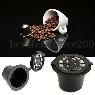 1/3/6x Refillable Capsule Pod for Nespresso Reusable Coffee Espresso Cup + Spoon 4