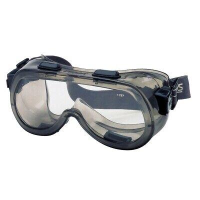 2410 Safety Goggles Indirect Vent Smoke Frame Clear Af Lens Fits Over Glasses