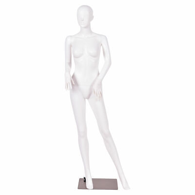 5.8 Ft Female Mannequin Plastic Full Body Dress Form Display W Base White New