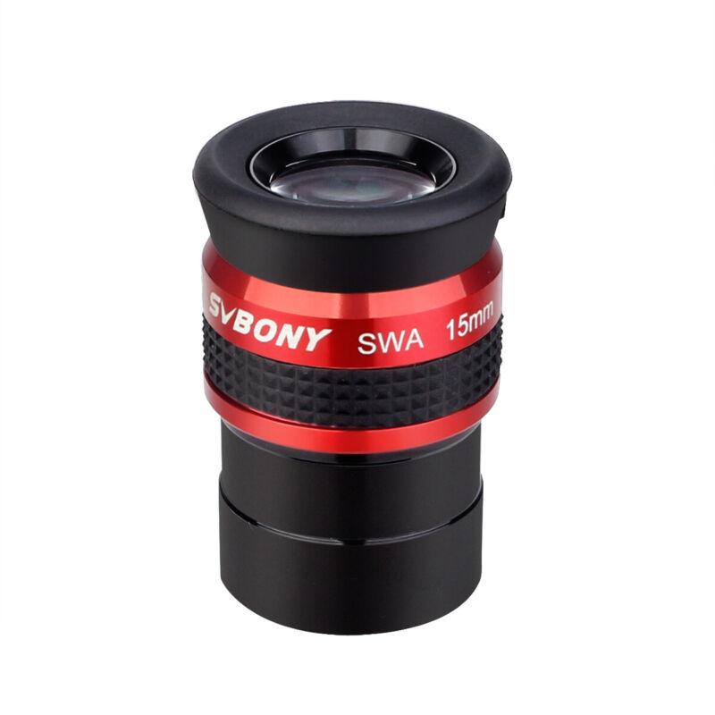"SVBONY 1.25"" Eyepiece 15mm SWA 70°Super Wide Angle Eyepiece Telescope Part Metal"