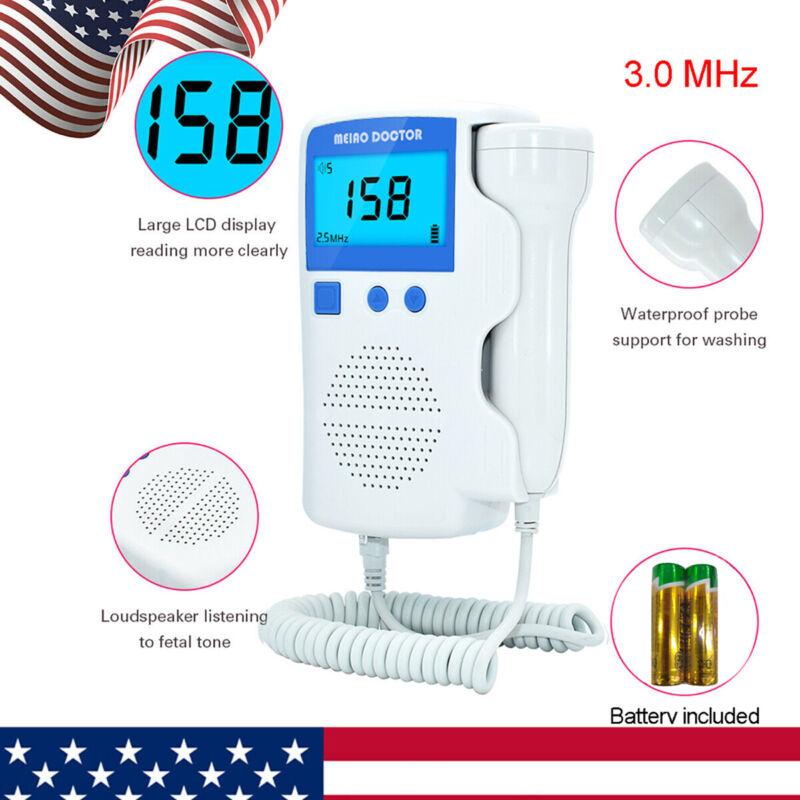 USA FDA Prenatal Fetal Doppler Baby Heartbeat Monitor Ultrasonic Detector 3MHz