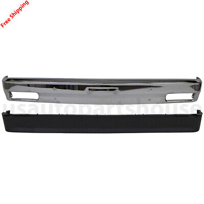 New For S10 S15 SONOMA Fits 1982-1993 Front Bumper Chrome & Lower Valance Panel