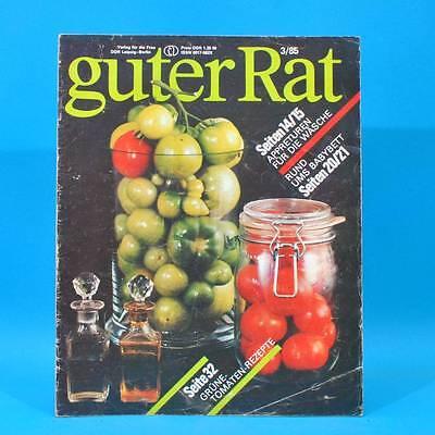 Guter Rat 3-1985 Verlag für die Frau DDR Sandspiele Schmorbraten Winterblüher C