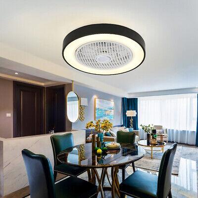 Ceiling Fan LED Light  Nordic Dining Room Black Macaron Living Room Lamp Remote Black Fan Light