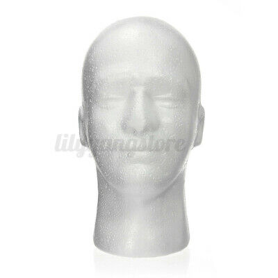 Male Mannequin Styrofoam Foam Manikin Head Model Wig Glasses Hat Display