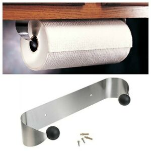 Prodyne Stainless Steel Paper Towel Holder/Rack Wall Mount Or Under Cabinet