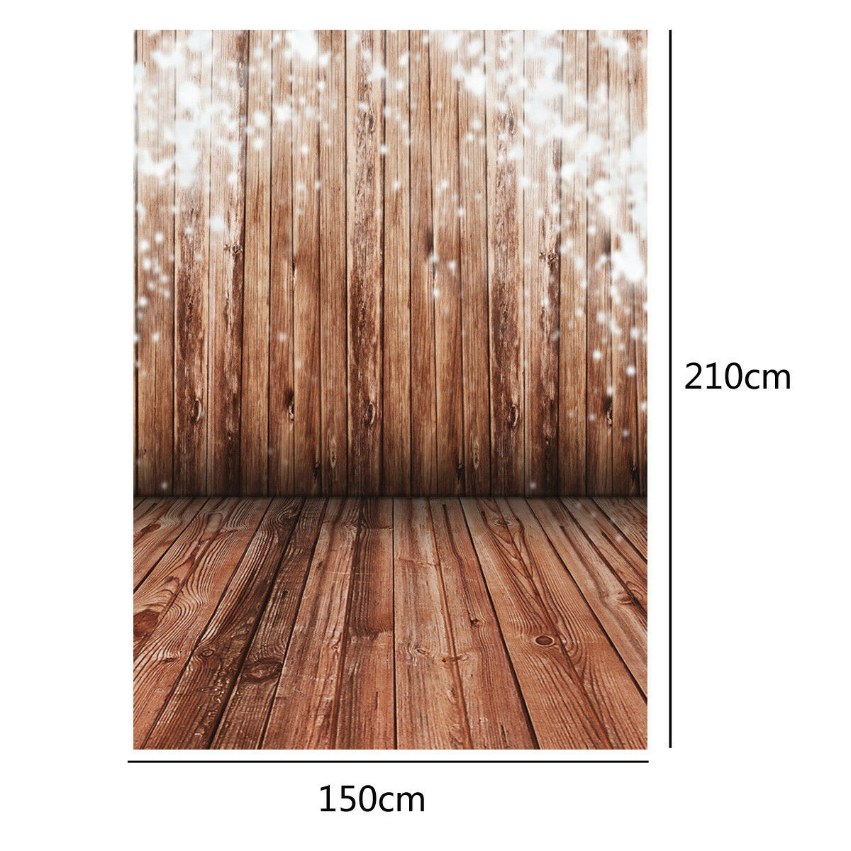 5x7FT Wood Wall Vinyl Photography Backdrop Photo Background Studio Props Decor
