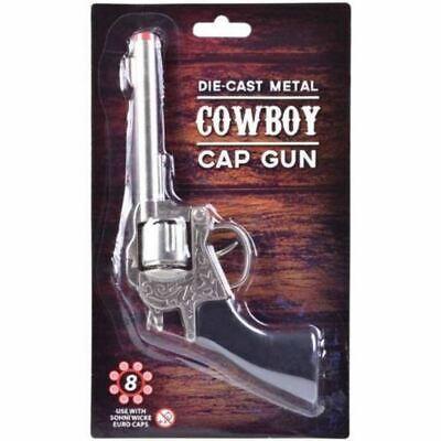 Metall Cowboy Pistole Bild Mützen Diecast Spielzeug Wilder Westen Kostüm