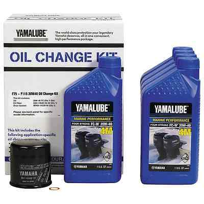 YAMAHA OEM F75-115 Outboard Oil Change Kit 5 Qt. 20W40 4M Filter LUB-MRNMD-KT-20