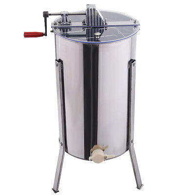 Goplus Large 2 Frame Honey Extractor Beekeeping Equipment Stainless Steel New