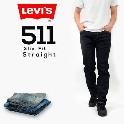 Genuine LEVIS MENS 511 Slim Fit Levi Jeans Denim Dark Wash Blue, Black