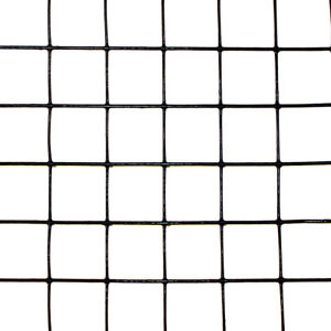 2' x 50' Welded Wire 19 ga. galvanized steel core Black PVC coating 1x1