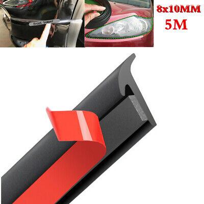 5M Slanted T-Type Car Front Rear Bumper & Lip Headlight Sealing Seals Strip Trim