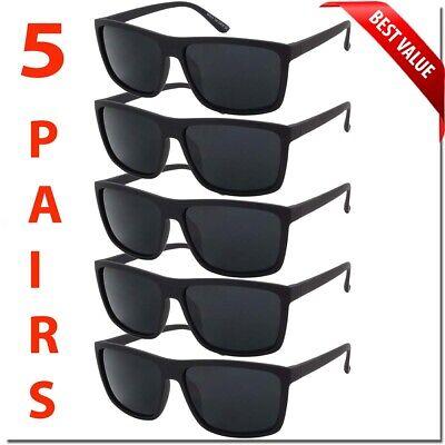 Mens Sunglasses Dark Lens OG Look Style Black Square Frame Gangster Sunglass (Mens Sunglass Styles)