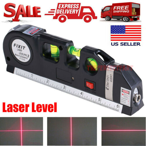 Multipurpose Laser Level Vertical Horizon Measuring Tape Aligner Metric Rulers